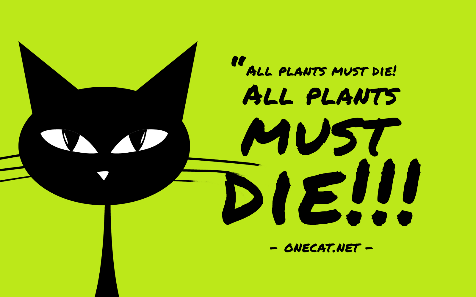 Cats Don't Like Plants